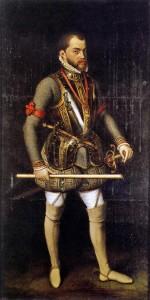 Антонис Мор «Портрет Филиппа II Испанского в доспехах» (1653)