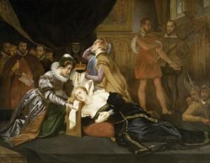 Абель де Пюжоль «Смерть королевы Шотландии Марии Стюарт, 1587» (XIX в.)