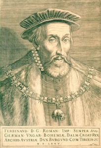 Мартин Рота «Император Священной Римской империи Фердинанд I» (гравюра конца XVI века)