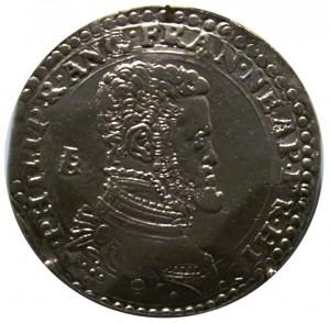 Филипп II на неаполитанском серебряном дукате
