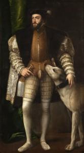 Тициан «Портрет императора Карла V с собакой» (1533 г., Музей Прадо)