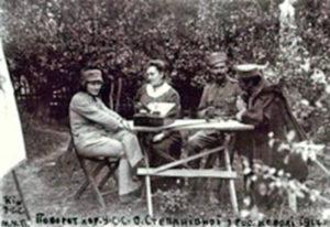 Олена Степанів після повернення з полону, 1917 р.