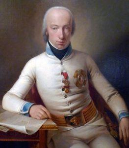 Ерцгерцог Карл фон Остеррайх-Тешинську в мундирі шефа-полковника 3-го піхотного полку (Йоган Баптист Зеєлов, 1800 р.)
