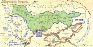 Австро-угорська окупація України (01.06.1918). Автор: Віктор Ясковець за матеріалами Österreich-Ungarns Letzter Krieg 1914–1918.