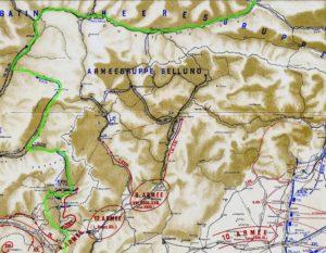 Реконструкція маршруту відходу роти Станіміра з Італійського фронту