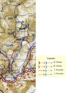 Відступ XXVI корпусу в період з 30 жовтня по 2 листопада 1918 р.