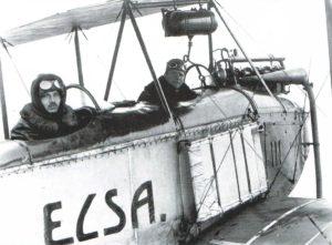 Спостерігач оберлейтенант Рудольф Голека та пілот оберлейтенант Генріх Кострба в літаку Aviatik B.I (8-ма авіаційна сотня, Східний фронт, осінь 1914 р.)